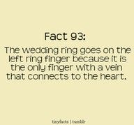 Wedding ring fact. Did not know this!