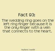 Wedding ring fact.