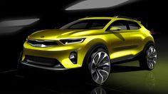 Kia Shows New Stonic Small Crossover In Official Sketches