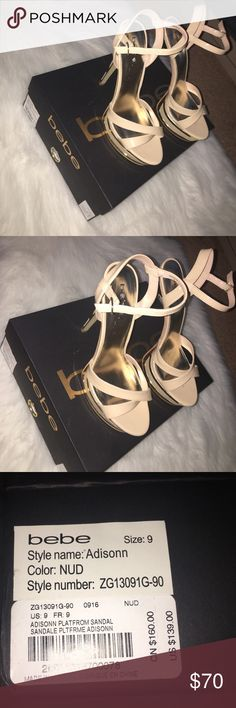 New Beautiful shoes New platform sandals bebe Shoes Platforms