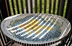 satellite dish birdbath - Mosaic!  Yes!