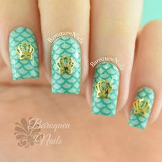 Mermaid Nail Art, Scale Design, Turquoise, Instagram Posts, Jewelry, Jewlery, Jewerly, Green Turquoise, Schmuck