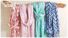 Rikshaw scarves  - loving these Indian block prints in modern colors perfect for spring
