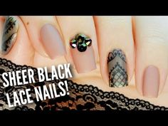 Nail hack: mix your existing nail polish to create a translucent shade that will look stunning in a black lace nail art design! Juli will be showing you how to DIY this chic nail design in just a few easy steps! Lace Nail Design, Gel Nail Art Designs, Elegant Nail Designs, White Lace Nails, Lace Nail Art, Black Nails, Nail Polish Hacks, Nail Art Hacks, Lace Wedding Nails
