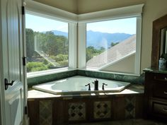 Cappy's Bedroom Suite  Bath tub with wonderful views too