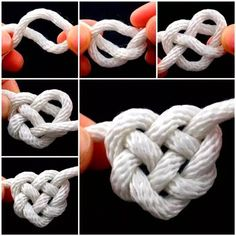 How to tie Celtic knots - Celtic knots are .- How to Tie Celtic Heart Knots – Celtic knots are a variety of knots and stylized graphical representations of knots, – - The Knot, Rope Knots, Macrame Knots, Rope Crafts, Diy And Crafts, Decor Crafts, Celtic Heart Knot, Celtic Knots, Celtic Knot Bracelets