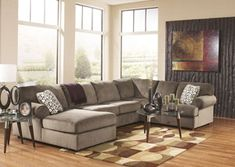 Shop Ashley Furniture Jessa Place Dune Left Side Chaise Sectional with great price, The Classy Home Furniture has the best selection of Sectionals to choose from Sectional Furniture, Sofa Couch, Living Room Sectional, Living Room Furniture, Home Furniture, Sectional Sofas, Hickory Furniture, Couch Set, Lounge Sofa
