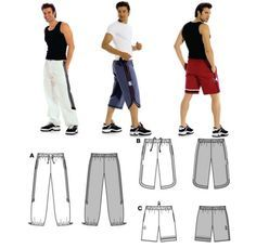 Shorts and sweat pants link to full pattern Paper Clothes, Sewing Clothes, Diy Clothes, Sewing Patterns Free, Clothing Patterns, Sewing Men, Underwear Pattern, Sweatpants Style, Tailoring Techniques
