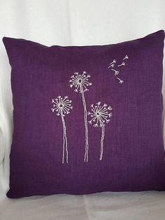 Deko kissenbezug-Pusteblumen Hand Sticker, Decorative Pillow Cases, Special Gifts, Dandelion, Throw Pillows, Unique, Color, Environment, Modern