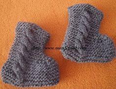 Örgü  erkek bebek patik modeli:yapılışı için:http://www.marifetane.com