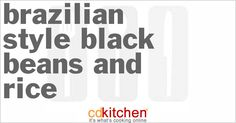 Brazilian-Style Black Beans and Rice | CDKitchen.com