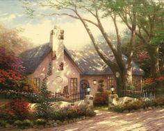 Morning Glory Cottage / Thomas Kinkade