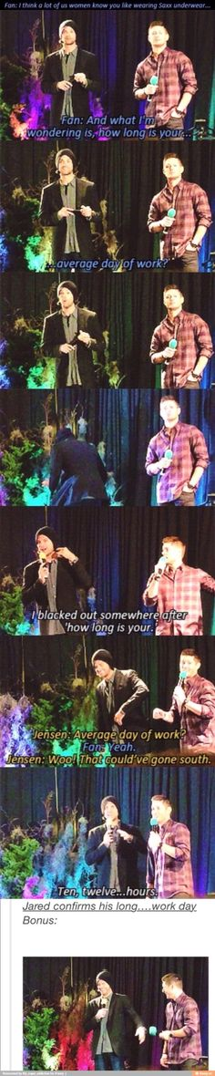 A fan makes Jared's and Jensen's minds go straight to the gutter