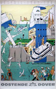 Ever Meulen - Oostende-Dover (gesigneerd)- 1991 - W.B.