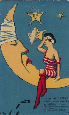 maudelynn:  A Little Pre New Year's Eve Poem; 1910s postcard
