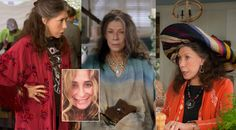 I watched this today & drooled over Frankie's (Lily Tomlin) red kimono. I need it!   Grace and Frankie by Manhattan Wardrobe Supply