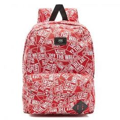 76d03e7dcc The Vans Old Skool II Backpack in Red is a backpack made for convenience  and everyday