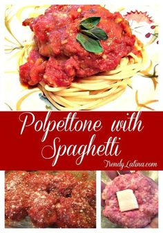An easy healthy Italian meatball Recipe you will love! Polpettone with Spaghetti is delicious and a great dinner option!