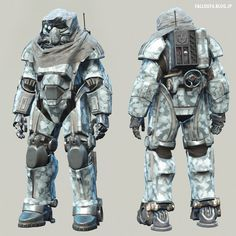 "Fallout 4 : T-49 Power Armor of ""The Storyteller"" White Death. By DogtoothCG Unoctium. #Post_Apocalyptic #Sci_Fi"