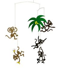 Who do I know that loves Monkeys? Perfect for a baby's room! Monkey Tree now featured on Fab.
