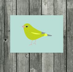Greenfinch Print British Bird Wall Art Wildlife Art Stylized Bird Illustrations Countryside Wall Art Garden Bird Print Bird Picture Bird Art by violetandalfie on Etsy