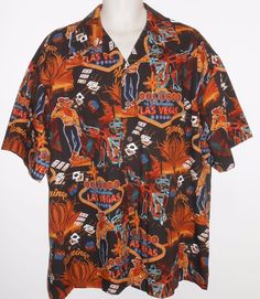 David Carey XL Shirt Las Vegas Flamingo Casino Cowboy Gambling Black  #DavidCarey #ButtonFront