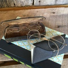 Antique Glasses and Glasses Cases, Vintage Wire Rimmed Glasses with Cases, Vintage Frame Glasses and Vintage Eye Ware Cases, Optical