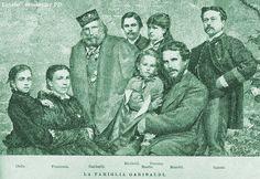 Família de Giuseppe Garibaldi, 1878.