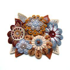 Felt flower brooch by DesignedByJane at Etsy