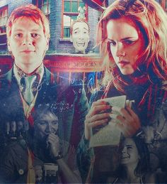 Find images and videos about harrypotter, hermionegranger and fremione on We Heart It - the app to get lost in what you love. Harry Potter Ships, Harry Potter Love, Harry Potter Characters, Harry Potter Fandom, Harry Potter World, James Potter, Fred And Hermione, Hermione Granger, Weasley Twins