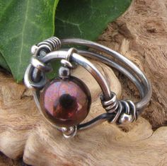 Pearl Worry Ring Sterling Silver Handmade Wire Wrapped Ring | Flickr - Photo Sharing!