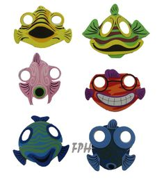 Foam Fish Face Masks 14.00 for 12