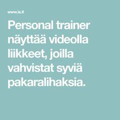 Personal trainer näyttää videolla liikkeet, joilla vahvistat syviä pakaralihaksia.