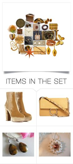 """Golden Tones"" by crystalglowdesign ❤ liked on Polyvore featuring art"
