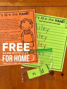 FREE Name Activities for Home! Fun Name and Letter Activities, Ideas and games for Kindergarten Back to School with a freebie! #backtoschool #nameactivities #kindergarten #ABCs #letteridentification #preschool #homeschool #conversationsinliteracy kindergarten, first grade, homeschool preschool