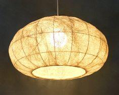 Plug In Pendant Light, Pendant Lamp, Pendant Lighting, Dining Pendant, Round Lamp Shade, Rustic Chandelier, Dining Chandelier, Chandeliers, Handmade Lamps