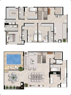 Home Room Design, Dream Home Design, My Dream Home, House Design, Apartment Floor Plans, House Floor Plans, Colonial House Plans, Facade House, House Rooms