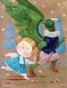 Alice's Illustrated Adventures In Wonderland: Chapter 9 ~ The Mock Turtle's Story - Art by Evgenia Gapchinska