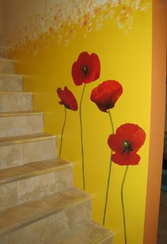RoomMates RMK1729GM Poppies at Play Peel and Stick Giant Wall Decals - Wall Decor Stickers - Amazon.com