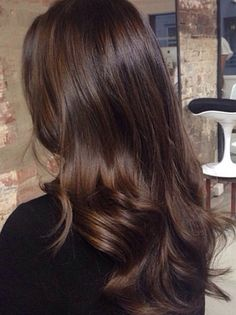 Black Coffee Hair With Ombre Highlights - 10 Cool Ideas of Coffee Brown Hair Color - The Trending Hairstyle Brown Hair Balayage, Brown Blonde Hair, Light Brown Hair, Hair Highlights, Ombre Hair, Brown Hair Kpop, Brunette Fall Hair Color, Hair Color For Brunettes, Dark Brown Hair Rich