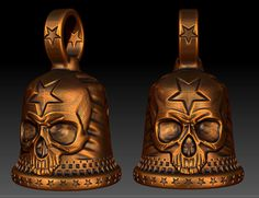 """Death Patriot"" biker bell designed by Marco Valenzuela 2013"