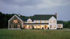 Shingle style barn and clapboard house seem really compatible. Like clean lines of the barn. Modern Farmhouse Exterior, Farmhouse Design, Cottage Design, Farmhouse Addition, New England Farmhouse, Barns Sheds, New England Homes, Barn House Plans, House Siding