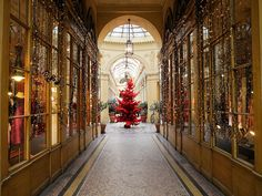 Christmas decorations at Galerie Vivienne in Paris by just_jeanette, via Flickr