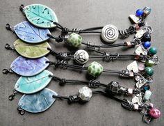 Porcelain & Leather Bracelets by RoundRabbit, via Flickr