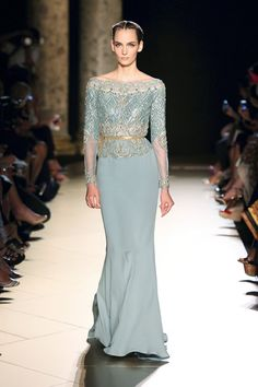 Elie Saab Fall 2012 Haute Couture Look 20 Elegant Dresses, Pretty Dresses, Sexy Dresses, Formal Dresses, Dresses 2014, Style Couture, Couture Fashion, Runway Fashion, Net Fashion