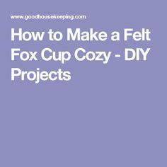 How to Make a Felt Fox Cup Cozy - DIY Projects