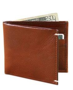 Tasso Elba Invecchiato Italian Leather Slim Billfold Wallet -
