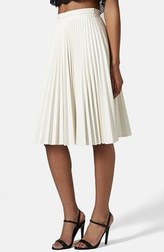 Free shipping and returns on Topshop Pleated Faux Leather Skirt at Nordstrom.com. Slender accordion pleats award a crisply defined look to an A-line midi skirt.