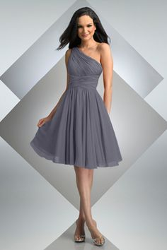 gray bridesmaid dress. bari jay style 230