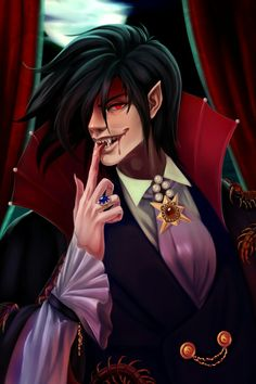 "taneysha-pictures: ""Alucard the Earl "" Manga Anime, Fanarts Anime, Anime Characters, Anime Art, Hellsing Ultimate Anime, Seras Victoria, Hellsing Alucard, Vampire Boy, Best Love Stories"